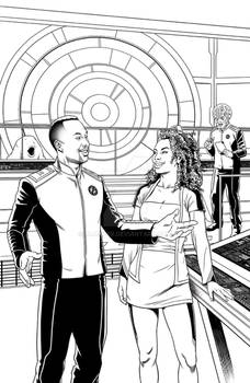 The Orville issue 3 cover inks