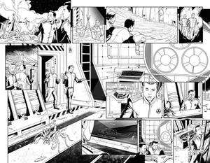 The Orville issue 2 double spread page inks