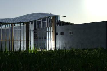 Culture center in Opoczno visualisation by wielkiolkus