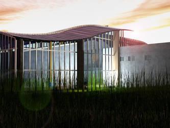 Culture center in Opoczno visualisation 2 by wielkiolkus