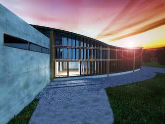 Culture center in Opoczno visualisation 3 by wielkiolkus