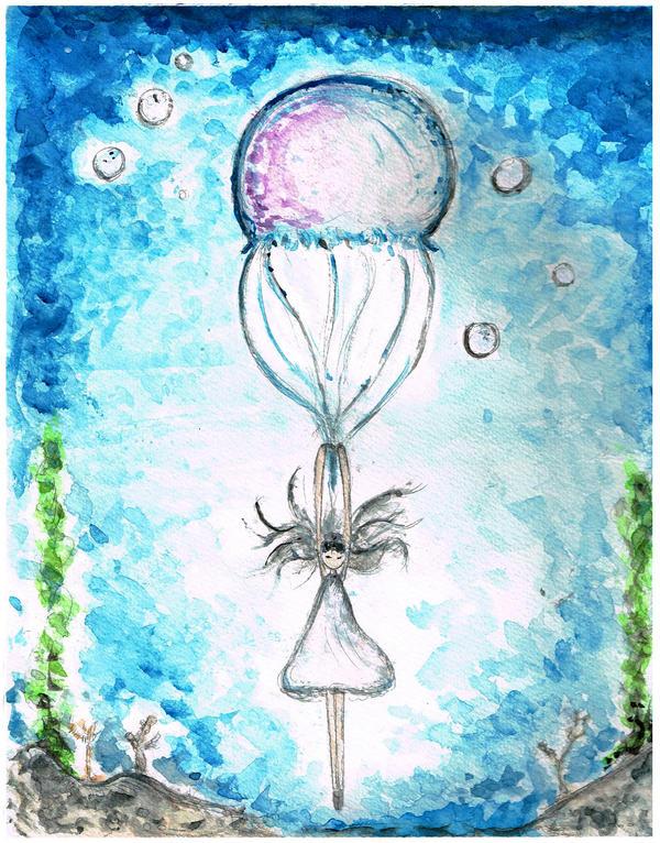 Parachute Jellyfish by Tanzuse
