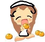 naki comiendo naranjas by 122-natalia-cat