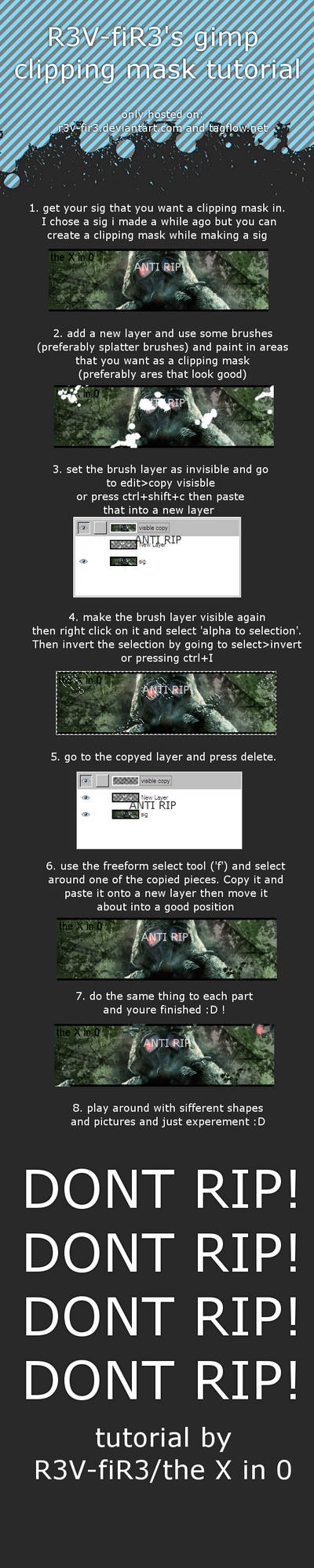 GIMP clipping mask tutorial
