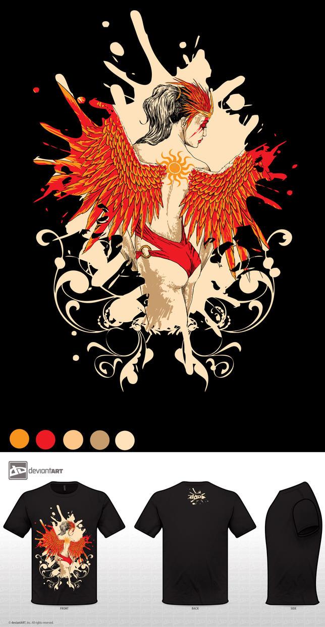 Phoenix humanoid form by AnetaChalimoniuk