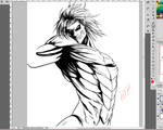 Shingeki No Kyojin Fan Art eren titan form Wip