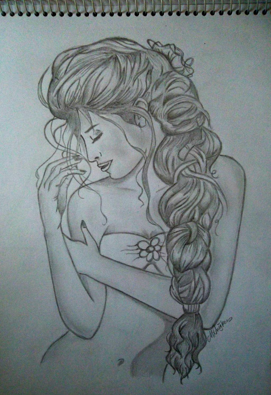 braided hair drawing by ningk3 on deviantart