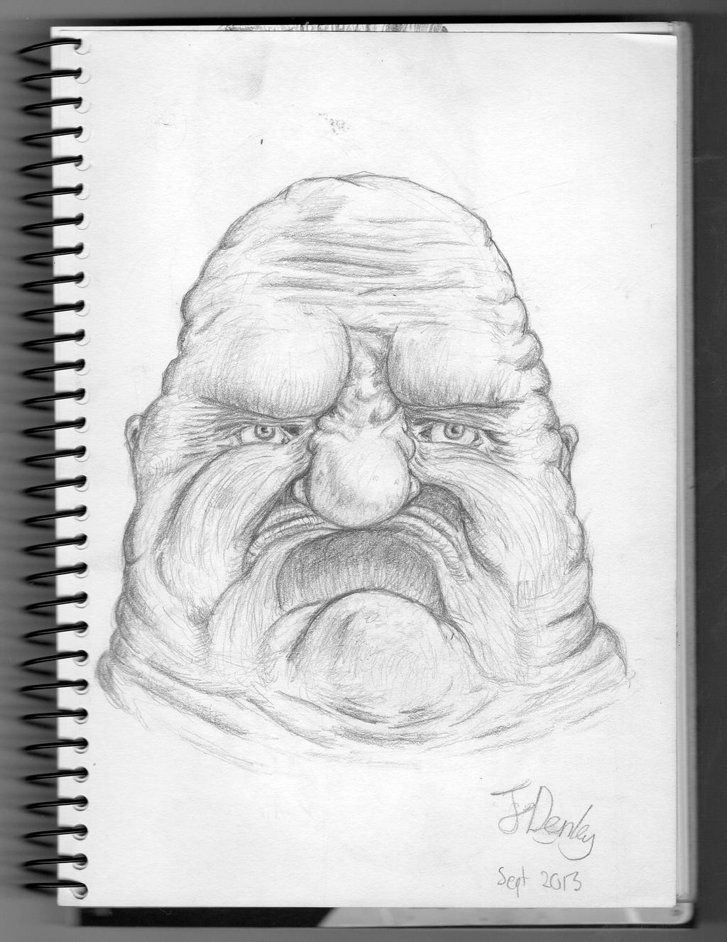 Grimaced Face by Jor-Den
