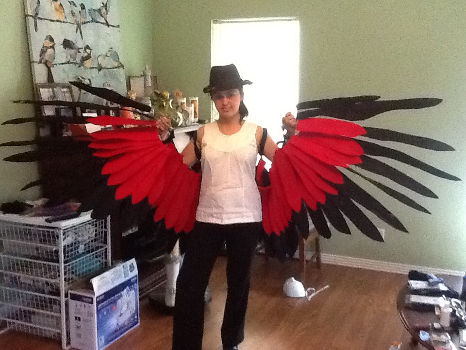 Honchkrow Wings Done! by GailFreebird