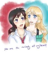 MOTH Contest - Rhi x Lucy by DragonYoukaiKanaChan