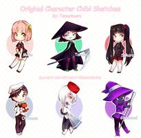 OC Chibi Sketches by Temarimaru