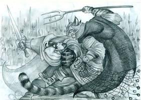 Lord Brocktree vs. Ungatt Trunn by FortunataFox