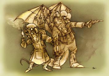 Steampunk Frederick Treves and Joseph Merrick.