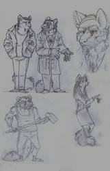 American Gods. Some sketches. by FortunataFox