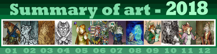 Summary of art - 2018 by FortunataFox