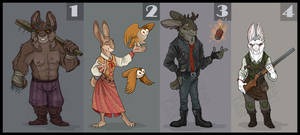 Hares, Rabbits and Wolpers - ADOPTABLES AUCTION!