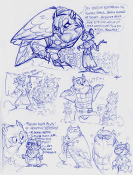 Tooth and Tail - some sketches.