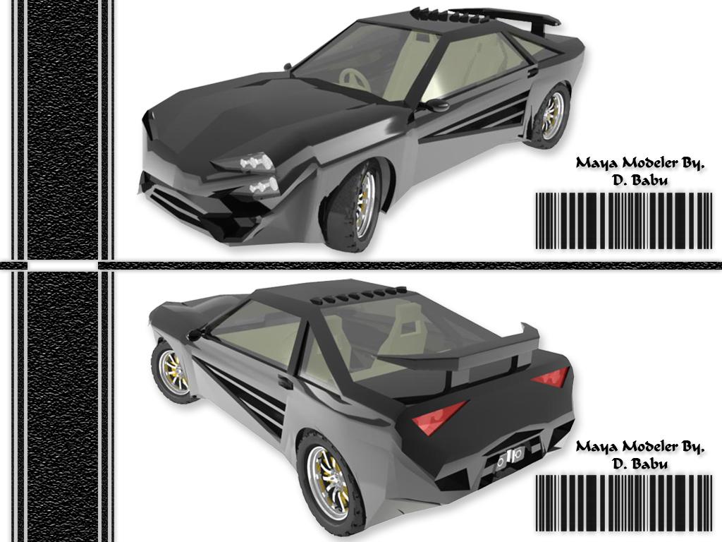 Car Model in Maya Design by babudharmaraj on DeviantArt