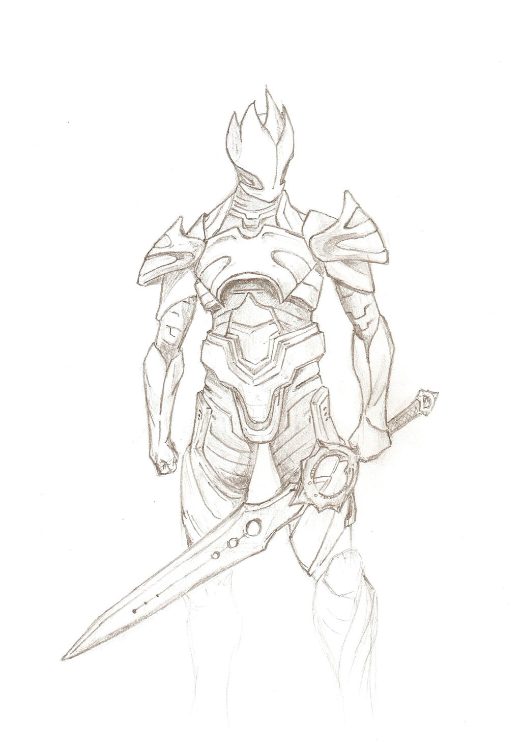 blade drawing infinity blade god king by vilbor on deviantart 6816