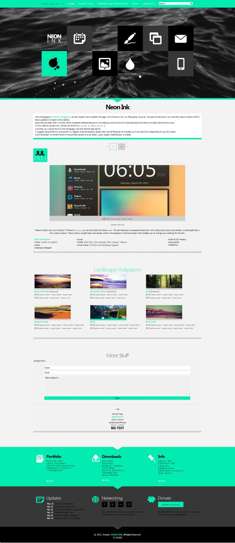Neon Ink. 3.0 [Web Design]