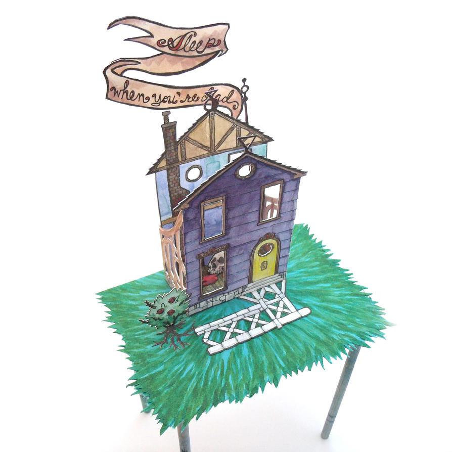Stilt House - closeup by Alecueous