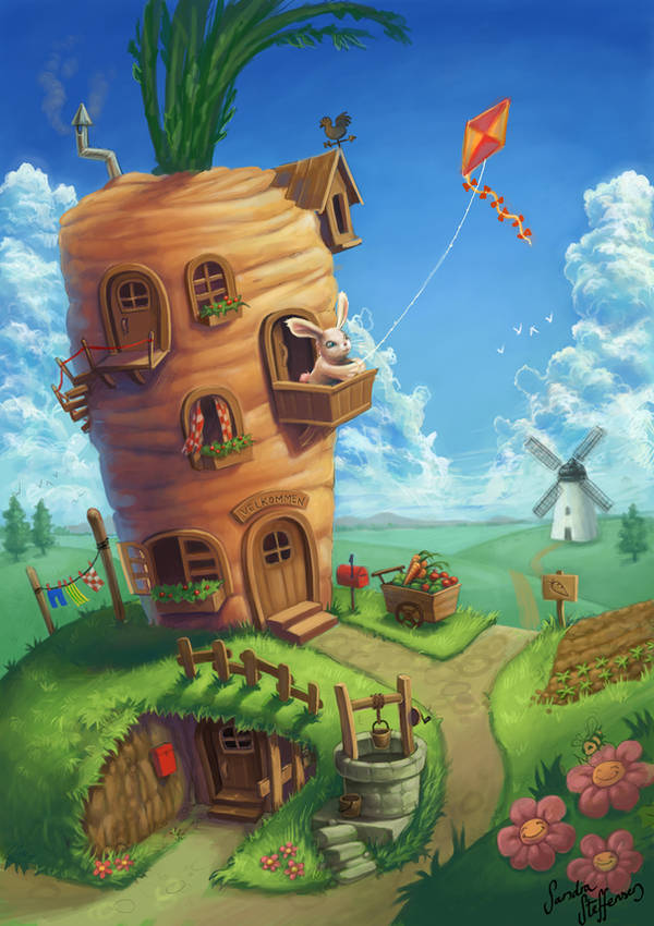 Bunny Dream House by SandraKristin