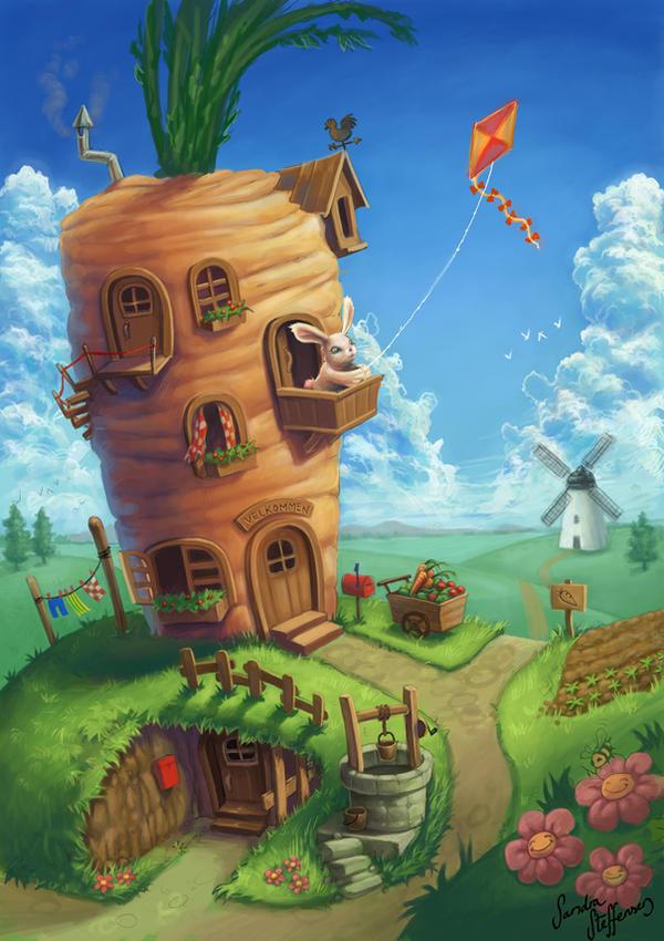 Bunny dream house by sandrakristin on deviantart for Dream house 3d