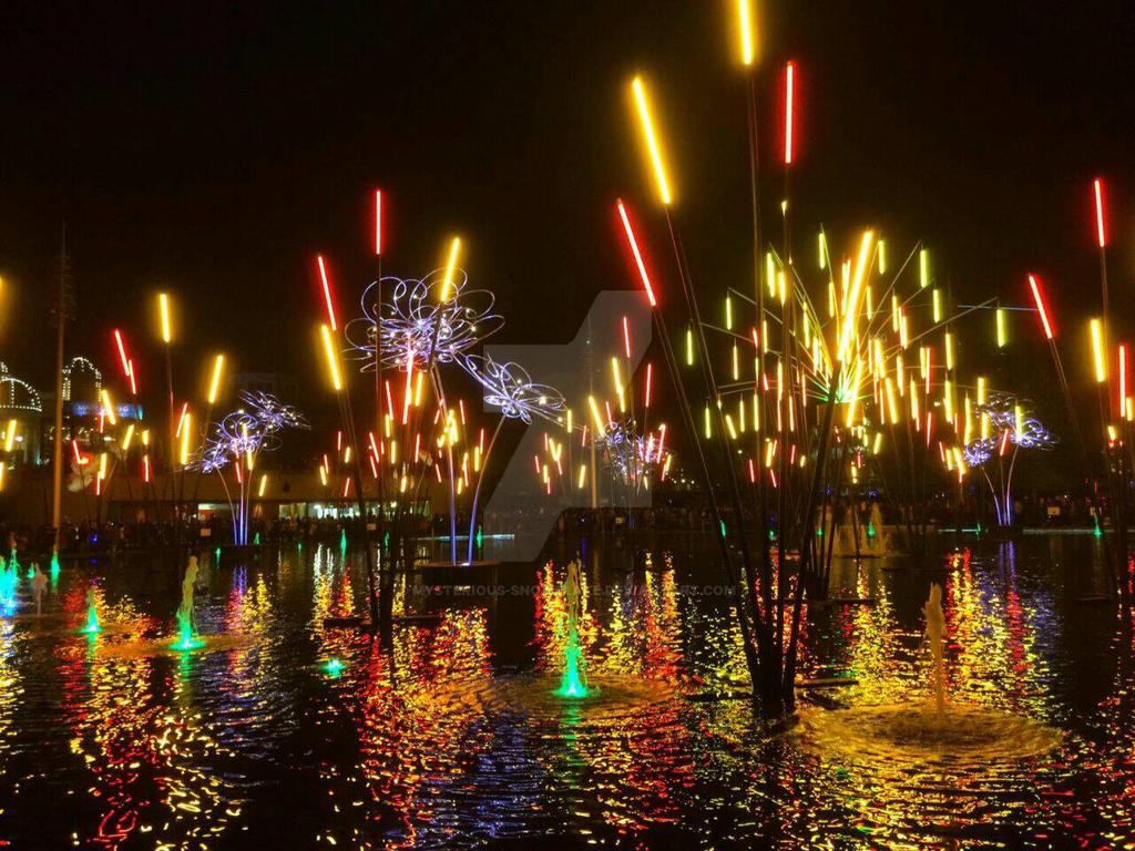 United Kingdom Bradford- City Park Lights By Mysterious