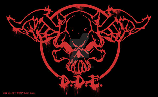New Drop Dead Evil Logo Skull By Dustinevans On Deviantart