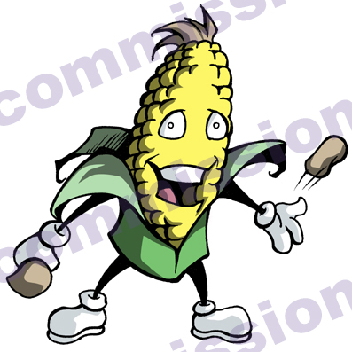Corn Hole Logo Cornhole mascot by dustinevans