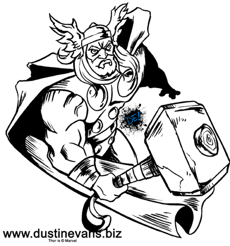 Thor black and white by DustinEvans on DeviantArt: dustinevans.deviantart.com/art/Thor-black-and-white-156560297