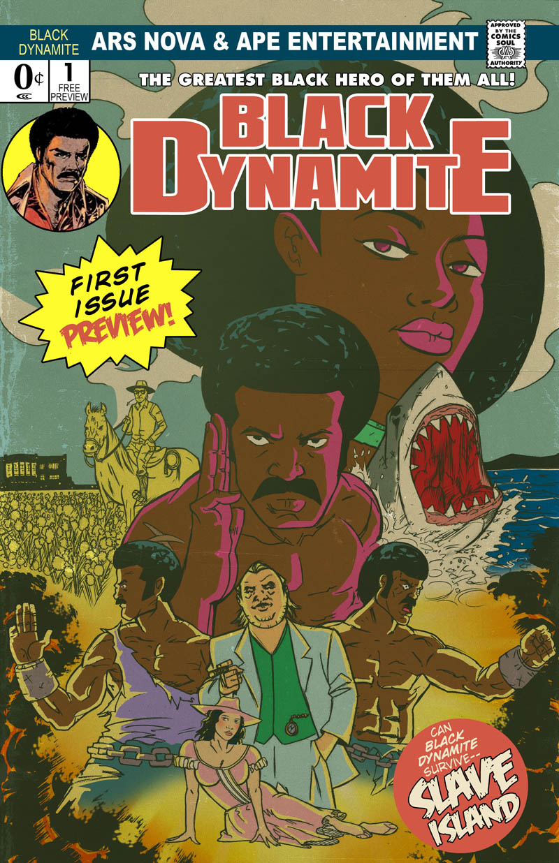 Black Dynamite promo colors