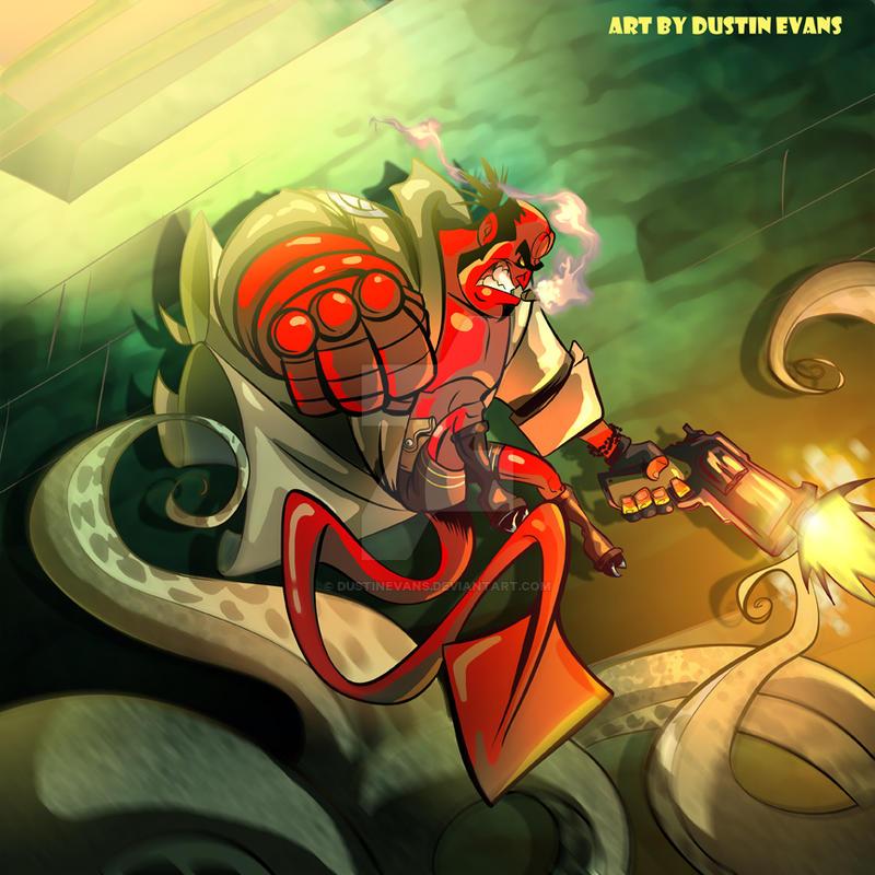 Hellboy Fan Art by DustinEvans