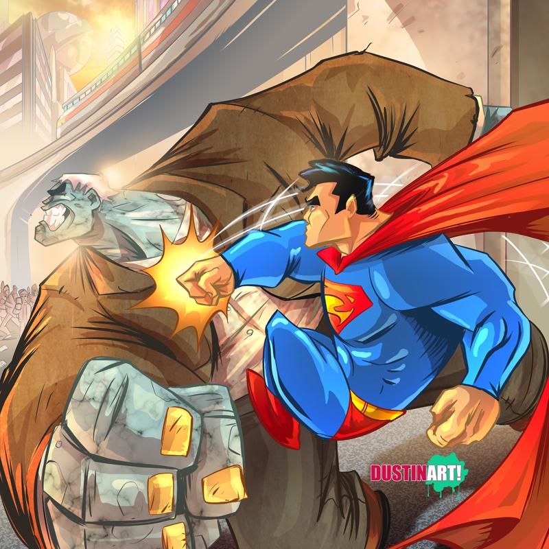 Superman Vs Grundy by DustinEvans
