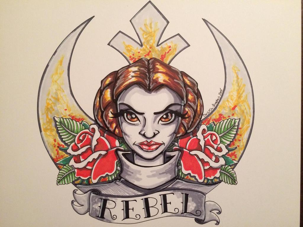 Princess Leia Tattoo Design by DustinEvans