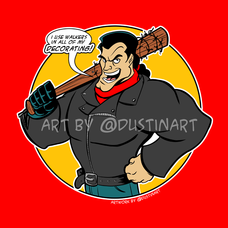Gaston Negan mashup T-shirts! by DustinEvans