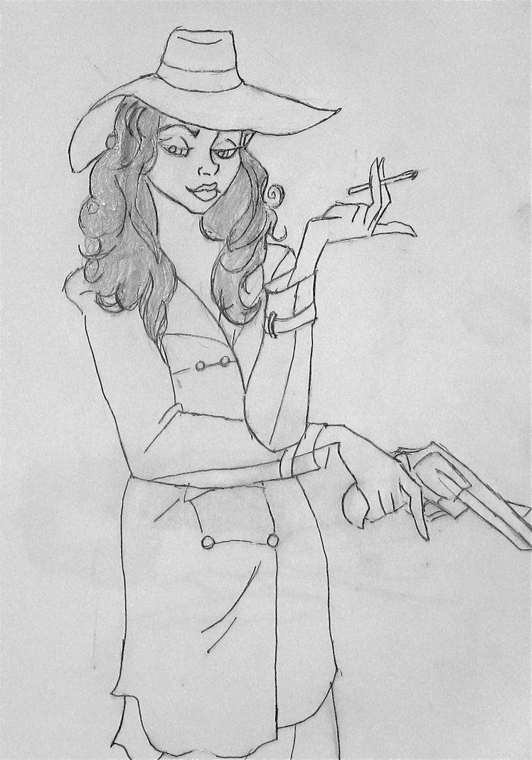 40s Private Eye Femme Fatale WIP by tristo99