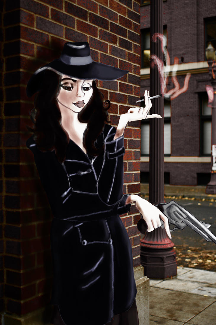 40s Private Eye Femme Fatale Color by tristo99