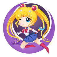 Sailor Moon Chibi by mornie-art
