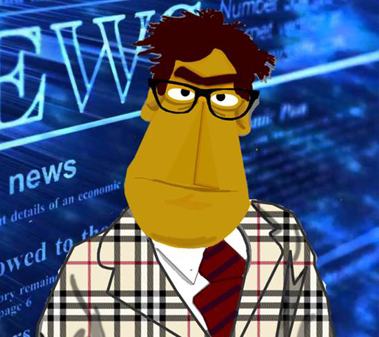 Muppet Newsman by MBBedard