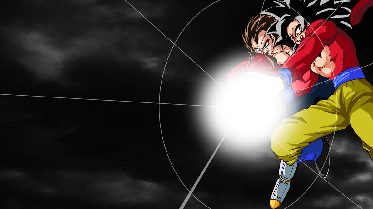 SSJ4 Goku And Vegeta Wallpaper By Harundoener