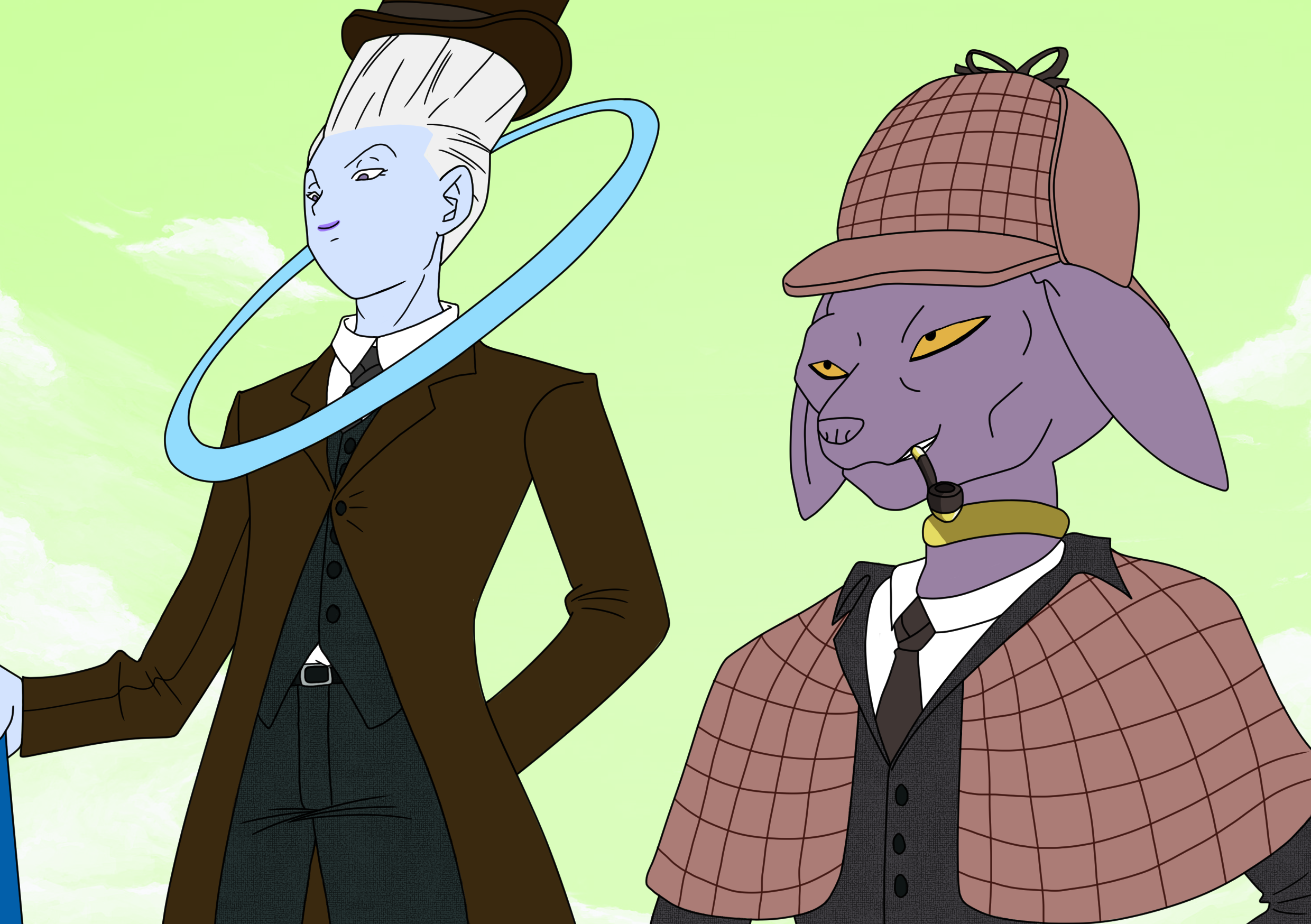 Beerus Holmes and Dr. Whis
