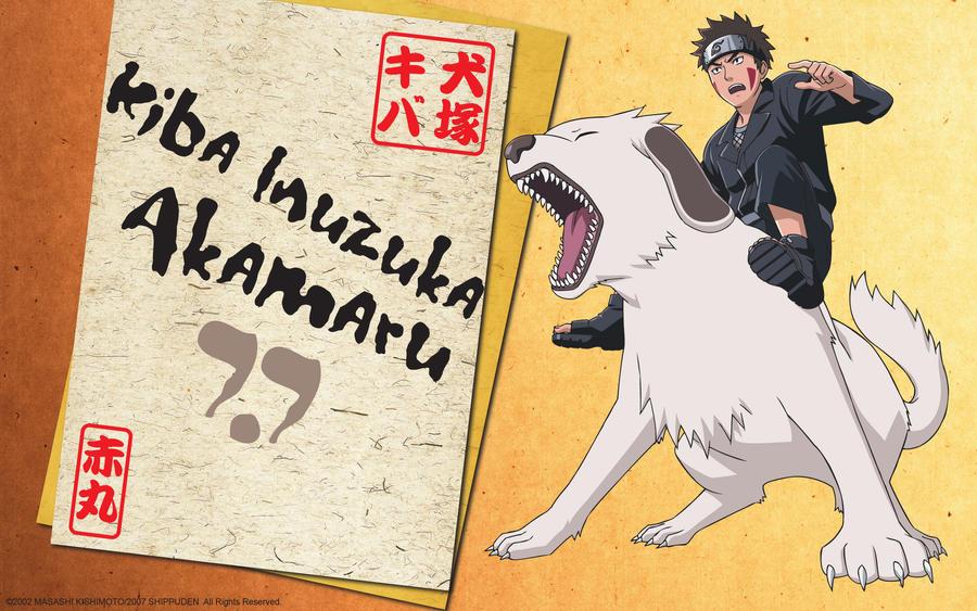 kiba akamaru b-day wallpaper by sasuXdet
