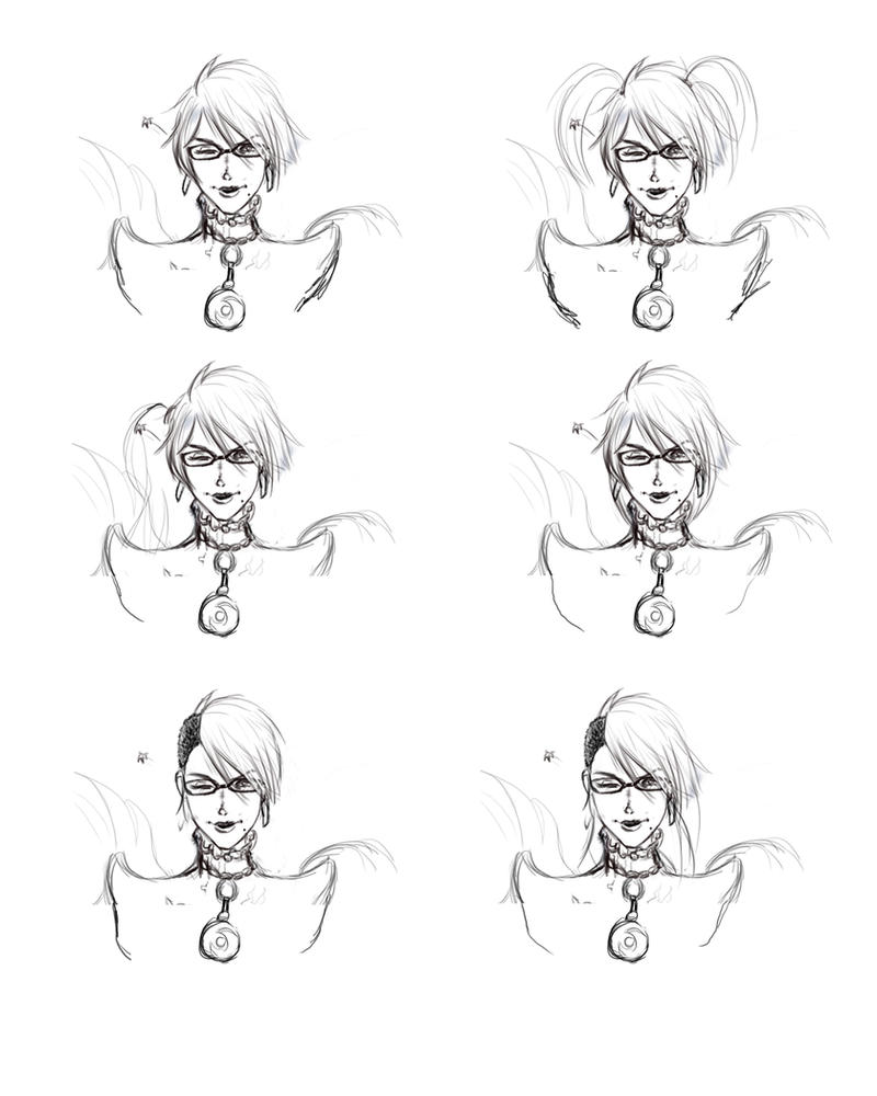 Bayonetta Hair style Dump by Unttin7