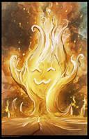 Cute fire elemental. by WanderingInPixels