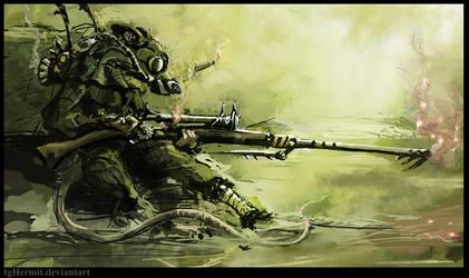 Skaven sniper by WanderingInPixels