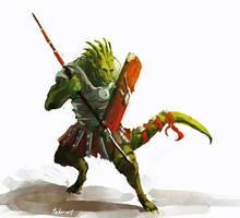 roman lizard by WanderingInPixels