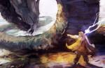Thor and Jormungandr