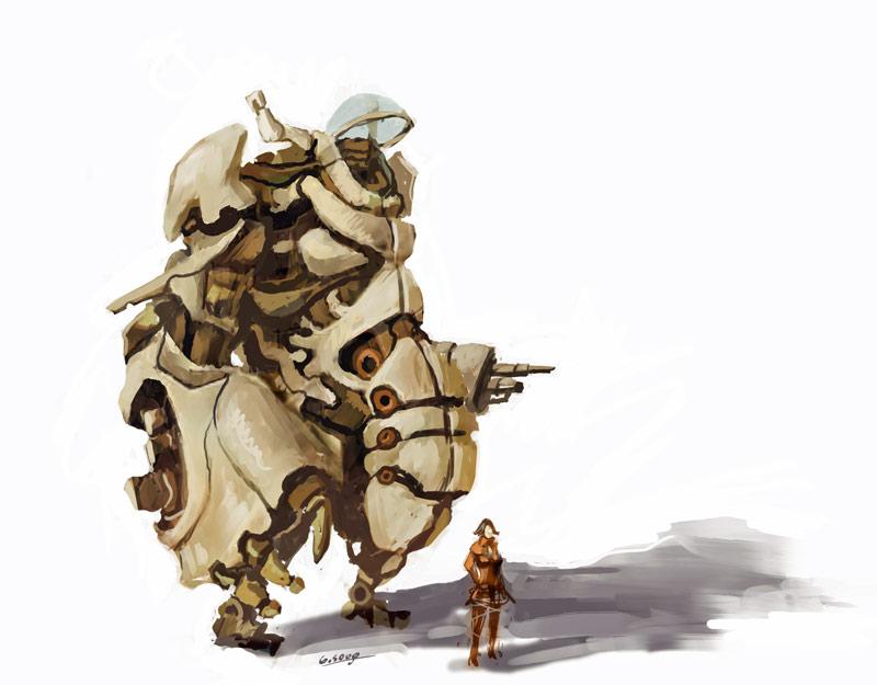 Fat robot by WanderingInPixels