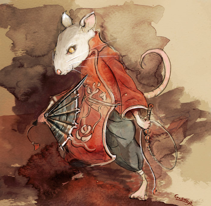 lotus rat by WanderingInPixels